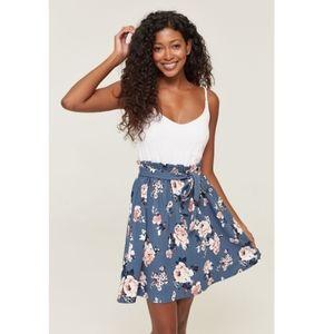 Adorable paper bag skirt dress